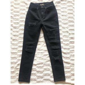 Sandro Distressed High Rise Jeans